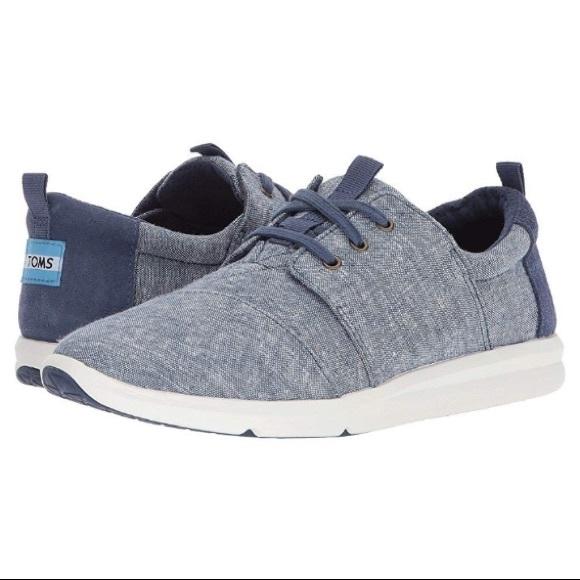 Toms Del Rey Sneaker Blue Slub Chambray